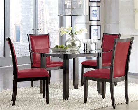 red dining chairs dining room ideas