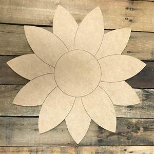 14, U0026quot, Paint, By, Line, Sunflower, Unfinished, Wooden, Cutout, Craft, Build-a-cross