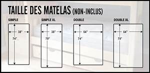 Taille Standard Matelas Maison Design