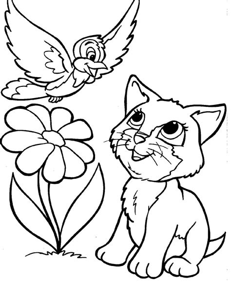 kitty cat coloring pages   thousand pictures