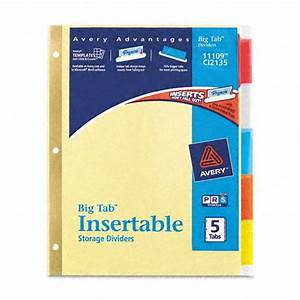 Avery worksaver big tab paper dividers office supplies for Avery 3 tab dividers