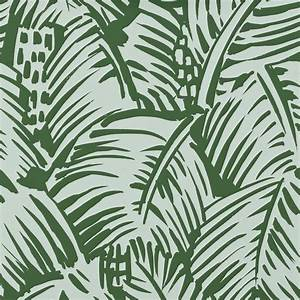 Leaf design wallpaper : Hermes paris fashion brand wallpaper design fabric