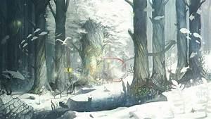 #winter, #snow, #forest, #trees, #fish, #birds, #animals ...