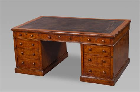 Fine Mid 19th Century Figured Oak Partners Desk By Holland. Drawer Bed Frame. Treasure Chest Coffee Table. Metal Desk Lamp. Battery Desk Fan. Low Bed Frame With Drawers. Modern Dining Table And Chairs. Girl Desk Ideas. Rustic Hall Table