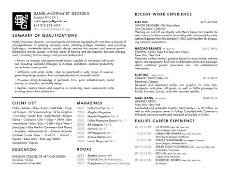 fashion design student resume sle 28 images best 25