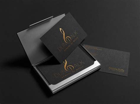 elegant logo business cards design  dundalk school