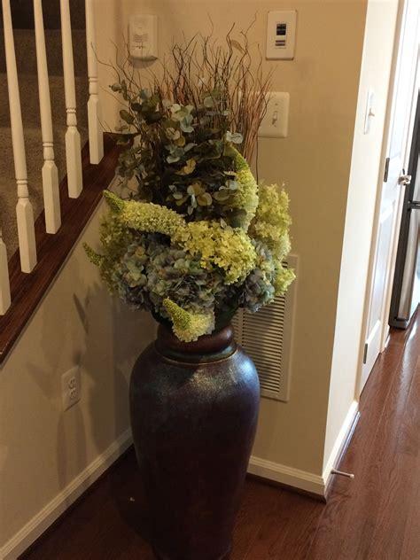 dark floor vase  arrangement vases decor