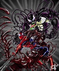 Carnage And Venom Vs Spiderman