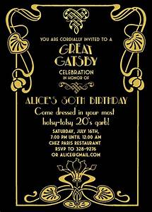 gatsby party invitation theruntimecom With the great gatsby invitation template