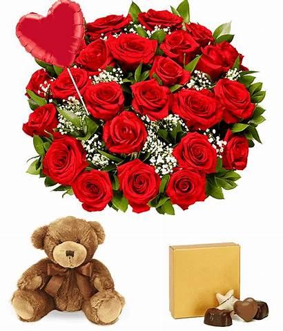 Heart Bear Roses Balloon Dozen Chocolate Emoji