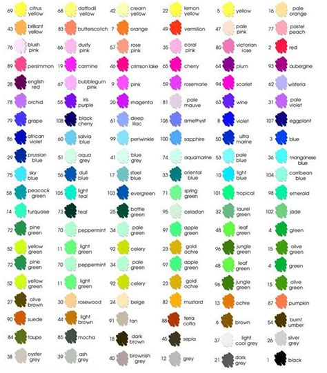 7 best scrapbook color charts images on