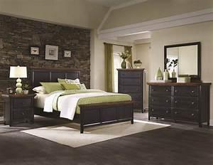 Mabel Rustic Black Bedroom Set
