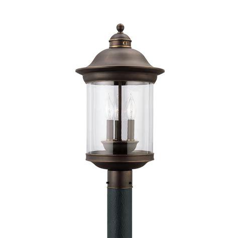 sea gull lighting hermitage 3 light outdoor antique bronze