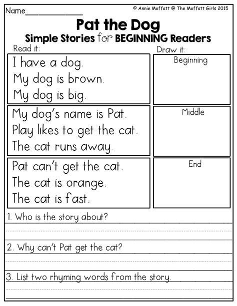 may no prep packet kindergarten simple stories