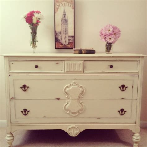 shabby chic furniture painting 1920 s shabby chic dresser in annie sloan chalk paint cream with distressed wood by furniture