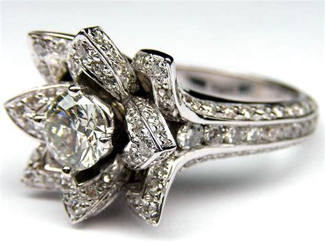 engagement ring lotus engagement ring in 14k