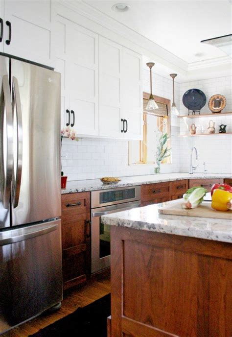 mismatched kitchen cabinets   good   escape