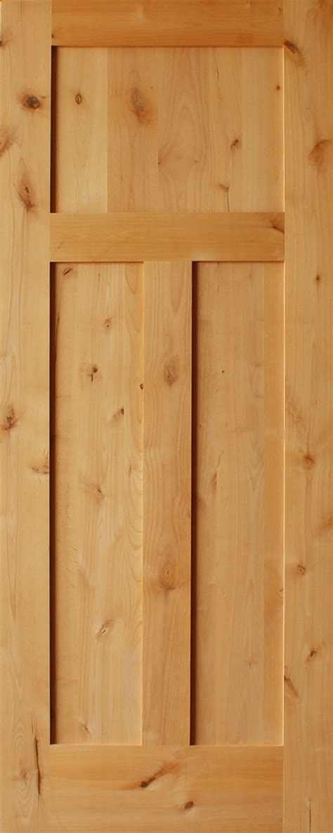 knotty alder craftsman  panel     thick