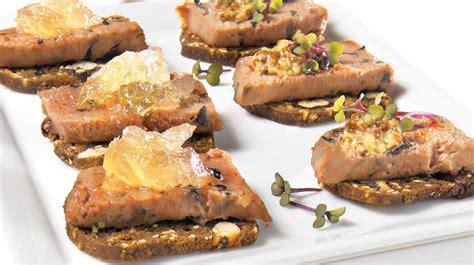 canapé recette facile canapés à la mousse de canard recettes iga bouchées