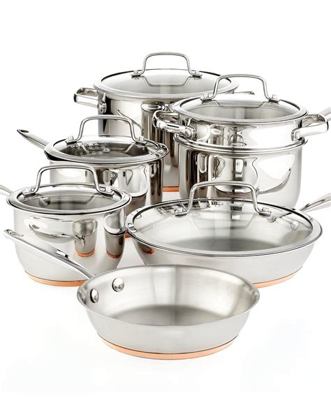 martha stewart collection copper accent  piece cookware set cookware kitchen macys