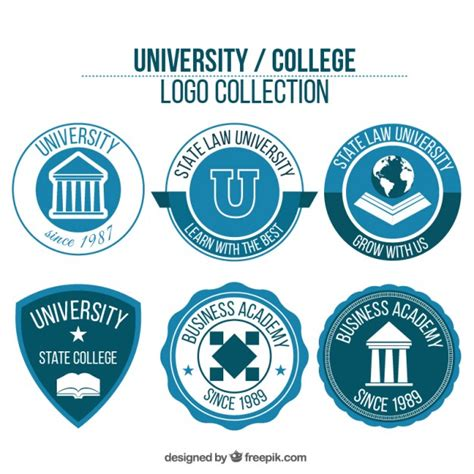 College Logos Pack Of University Logos Vector Free Download