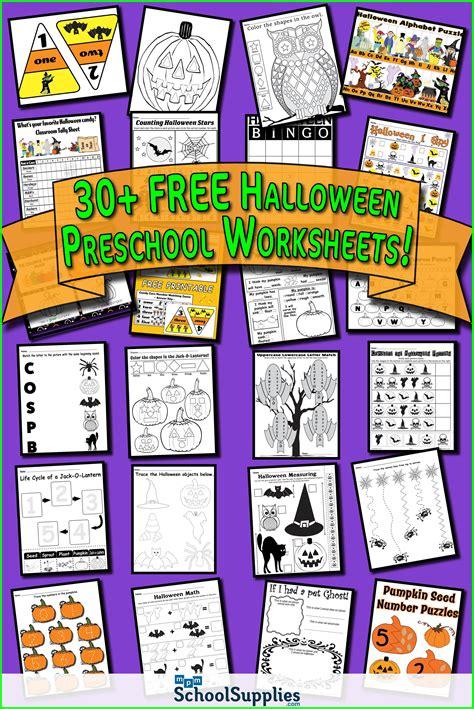 halloween preschool worksheets  halloween
