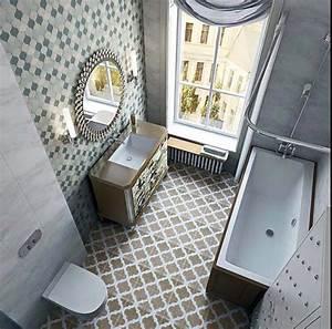carrelage design a linspiration geometrique pour la salle With motif carrelage salle de bain