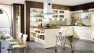 interior exterior plan make best use of high gloss cream With cream and brown kitchen designs