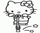 Coloring Pages Pogo Stick Kitty Hello Printable sketch template