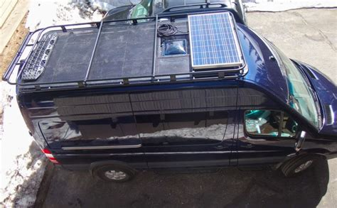 Fan Boat Conversion by Aluminess Roof Rack For Mercedes Sprinter Solar Panel