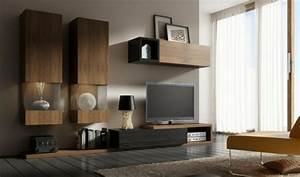 Meuble Bas Bois : mod les de meuble tv en bois ~ Teatrodelosmanantiales.com Idées de Décoration