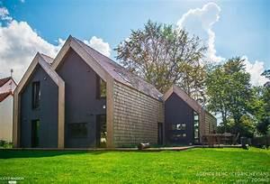 Maison Des Travaux : construction bois clt avec tuiles bois et panneaux ~ Melissatoandfro.com Idées de Décoration