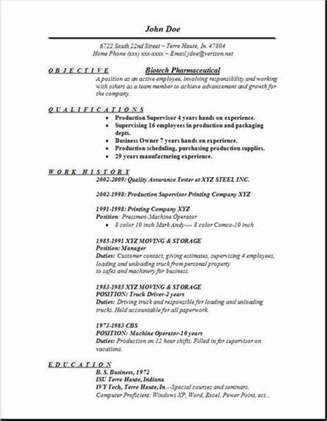 Biotechnology Resume Skills by Biotech Pharmaceutical Resume Occupational Exles Sles Free Edit With Word
