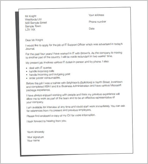 cover letter template   word  documents   premium templates