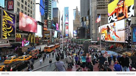 New York, Times Square In Timelapse Stock Video Footage