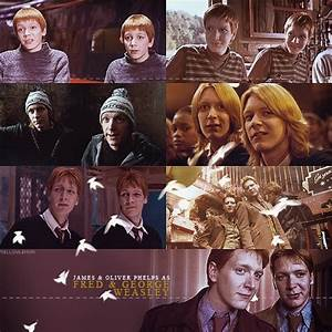 Fred and George Weasley | hellyeahweasleytwins