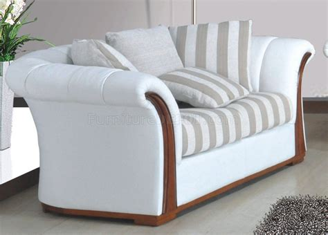 Fabric Loveseats by White Fabric Modern 7860 Sofa W Optional Loveseat Chair