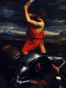 David And Goliath by Guido Reni, Handmade Oil Painting ...