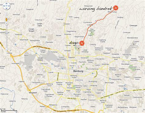 bandung map  bandung satellite image