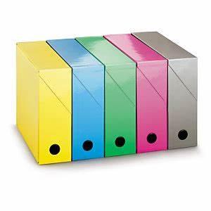 Boite De Classement Carton : bo te de classement carton brillant couleur fournitures de bureau raja ~ Teatrodelosmanantiales.com Idées de Décoration