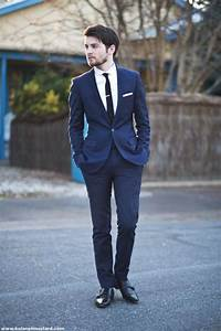 Picture Of Hot 2014 Wedding Trend Navy Suits For Grooms