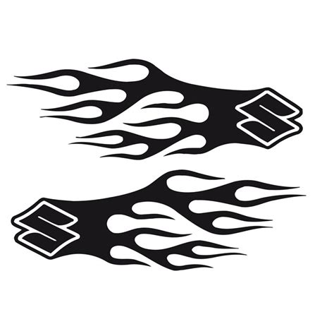 Suzuki Motorcycle Decals by Bike Chopper Gas Tank Flames Tribal Vinyl Decal Sticker