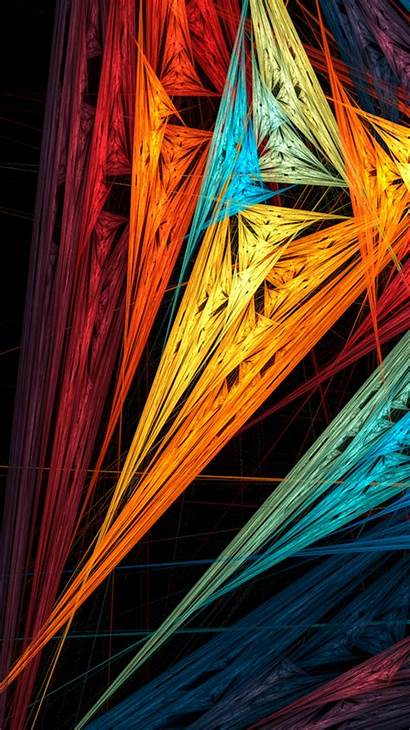 Iphone Colorful Wallpapers Sharp Shapes Abstract Para