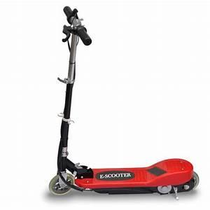 Trottinette lectrique E scooter rouge et noire 120W