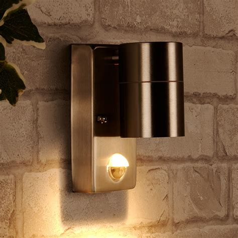 marinello stainless steel outside wall light with sensor dan outdoor wall light with pir sensor stainless steel
