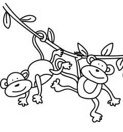 5 Little Monkeys Swinging In A Tree Clipart - ClipartFest