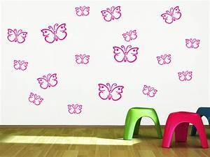 Wandtattoo Kinderzimmer Schmetterlinge : wandtattoo schmetterling set f rs kinderzimmer ~ Sanjose-hotels-ca.com Haus und Dekorationen