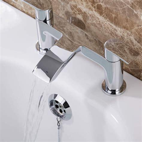 rubinetto in ottone rubinetto miscelatore bordo vasca in ottone cromato