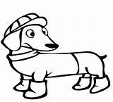 Dachshund Coloring Winter Dog Colorare Jamniki Daschund Evcil Hayvanlar Boyama Kolorowanki Bestcoloringpagesforkids Disegni Template Coloringpageforkids Cat Sayfalari Clipart Pets Categoria sketch template