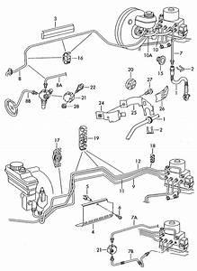Volkswagen Golf Brake Line From Hydraulic System To Brake Hose  Brake Line To Brake Hose